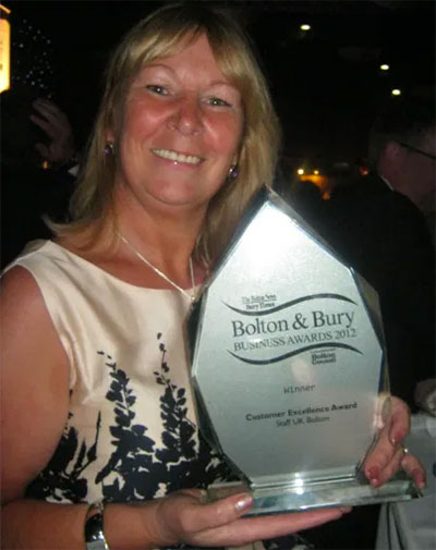 Collecting the Bolton and Bury Business Awards
